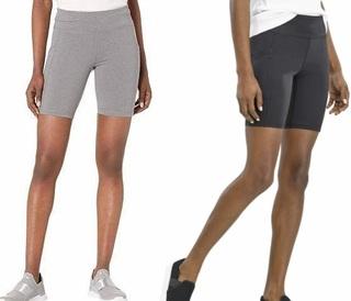 夏款速干透气四分打底裤 放手机运动健身女装短裤F3236二件包快