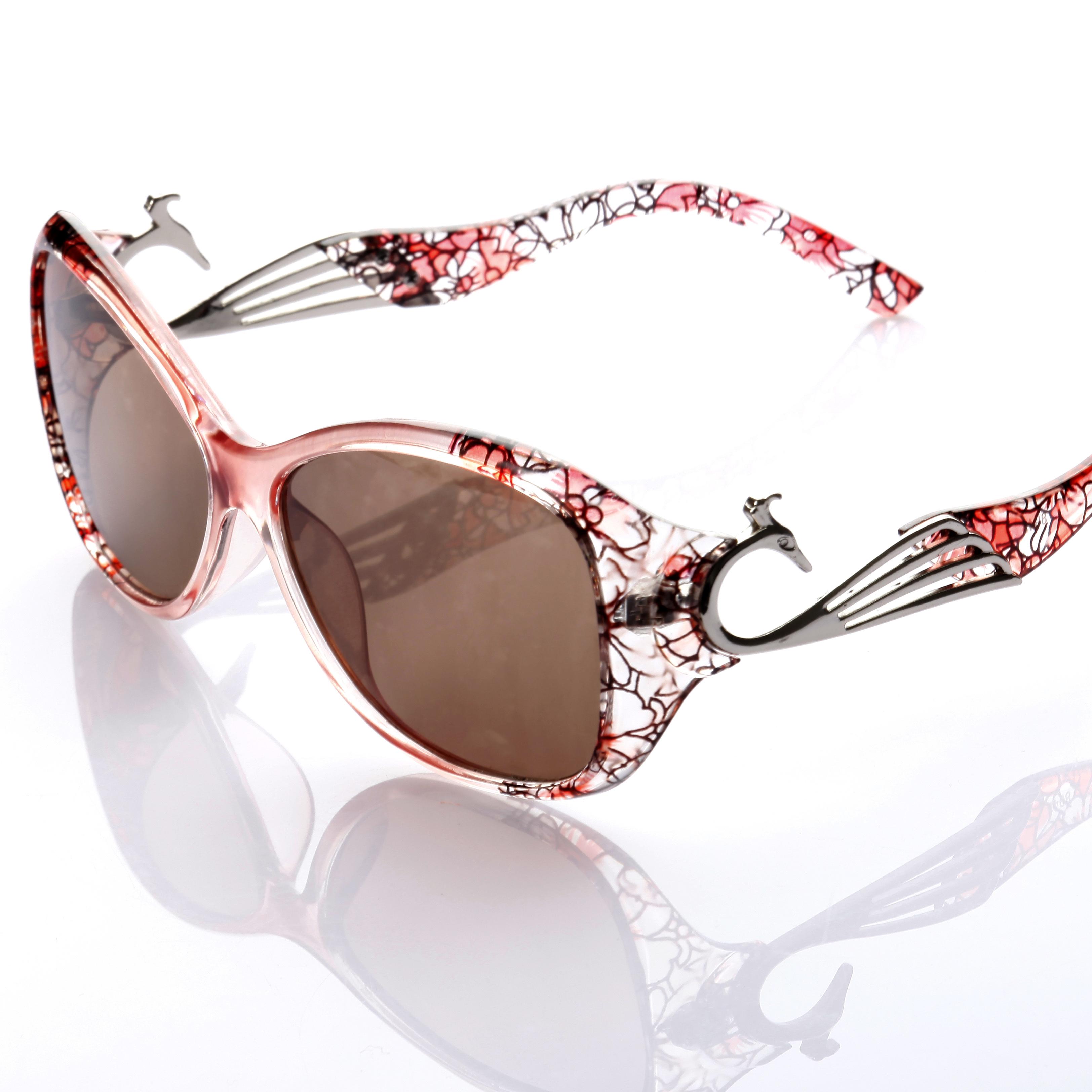 高档天然水晶眼镜女妈妈眼镜太阳镜优雅舒适墨镜清凉护目养眼时尚