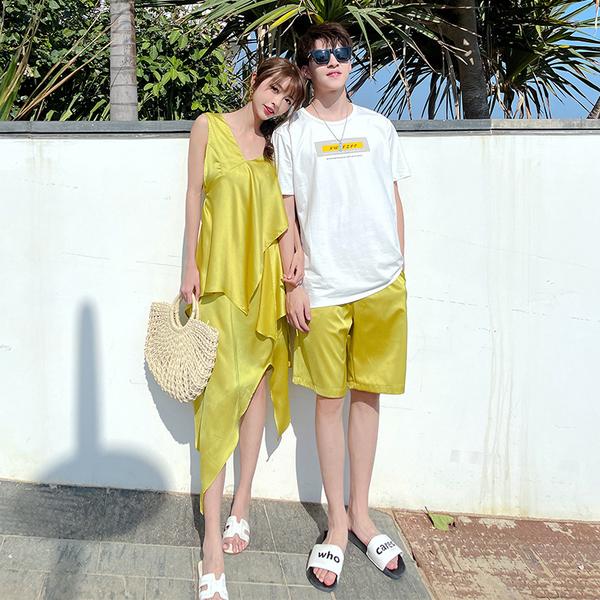 TS54693#新款沙滩度假风情侣装