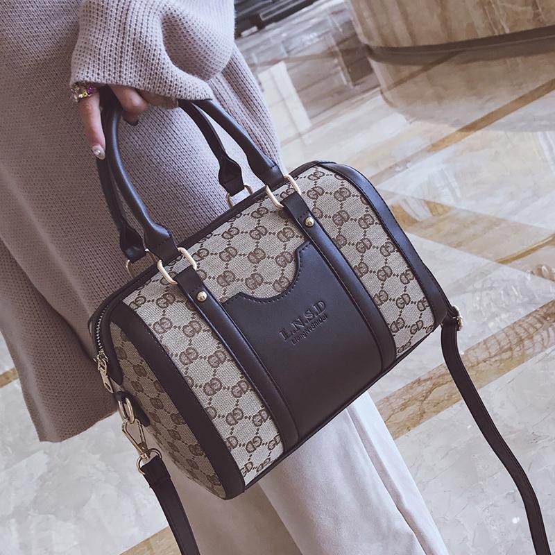 波士顿女包2018新款欧美时尚经典手提包单肩包斜挎潮大包包枕头包