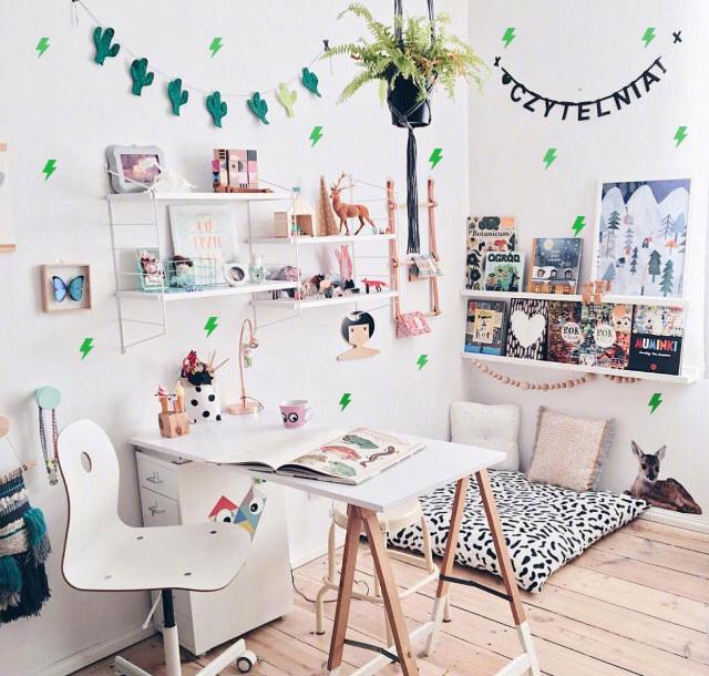 北欧ins闪电创意家居装饰贴纸少女心卧室客厅儿童房宿舍简约墙贴