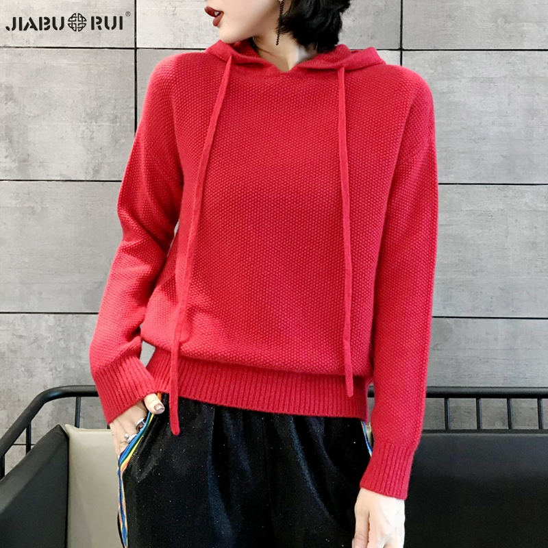 Gabriel new high end hooded casual cashmere sweater womens versatile pure European station sweater