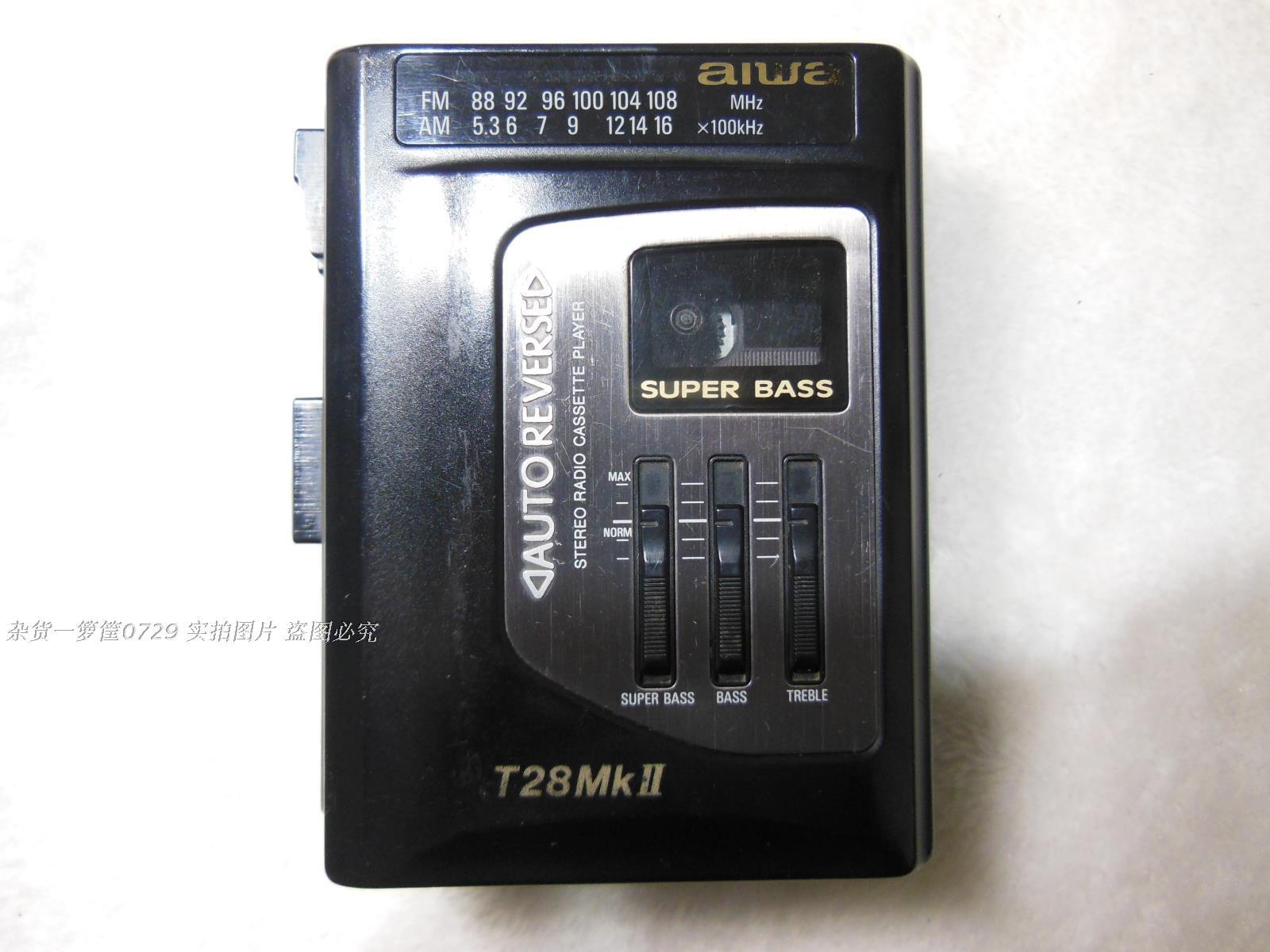 二手aiwa爱华T28MK2磁带播放器随身听收问题机