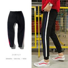 新加厚贴条冬款束口麂皮绒休闲裤 C301A-7003-P58(控价70)