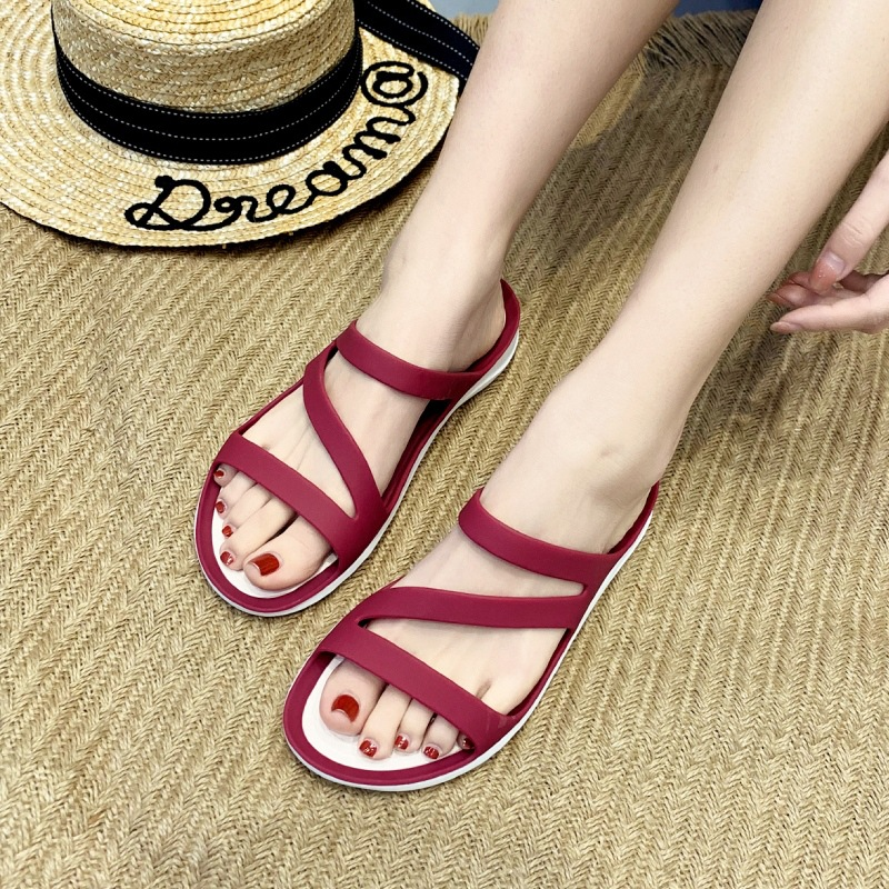 Fashionable beach shoes womens fashion summer leisure soft sole comfortable breathable antiskid beach flat sandal | 203998