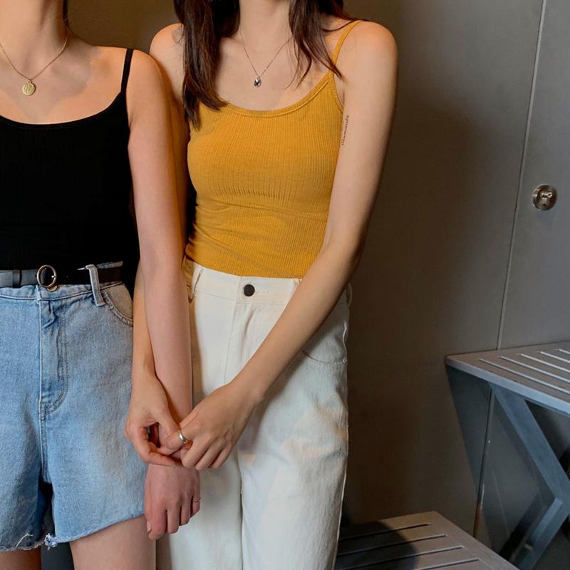 实拍实价 2019夏装新款显瘦针织吊带背心韩版百搭打底衫
