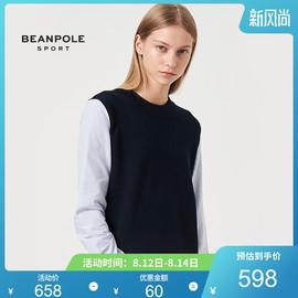 BEANPOLE滨波都市运动 秋冬新品女士衬衫式拼接毛衣图片