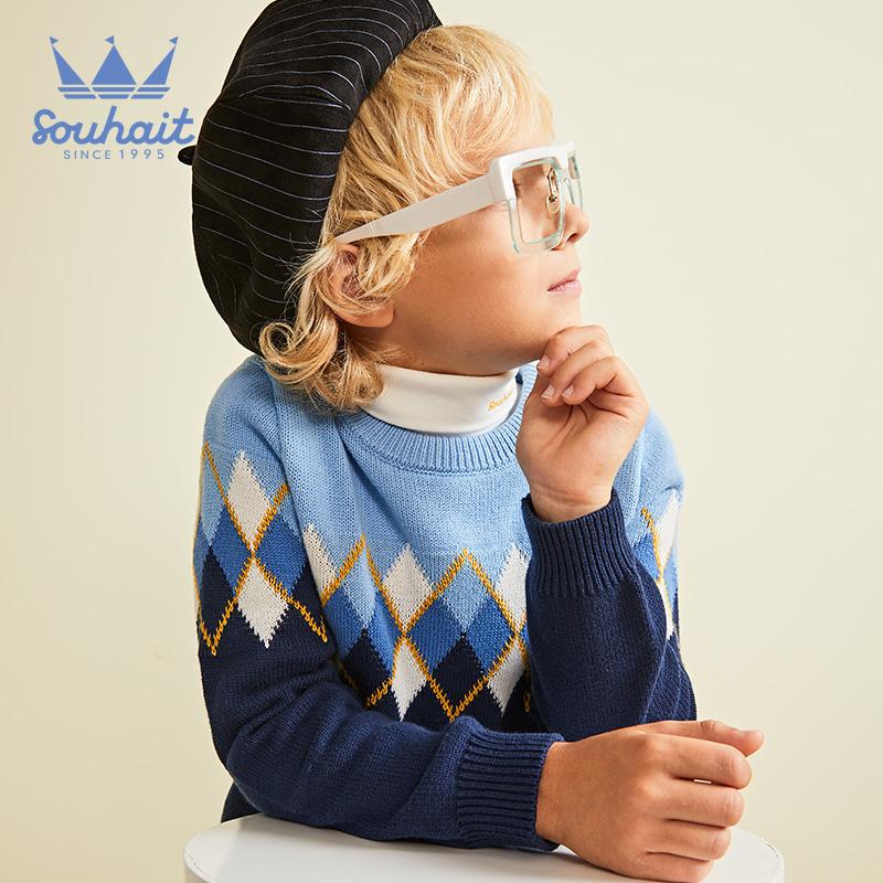 水孩儿童装套头男童毛衣保暖2020冬装毛衫洋气线衣中大童针织衫潮