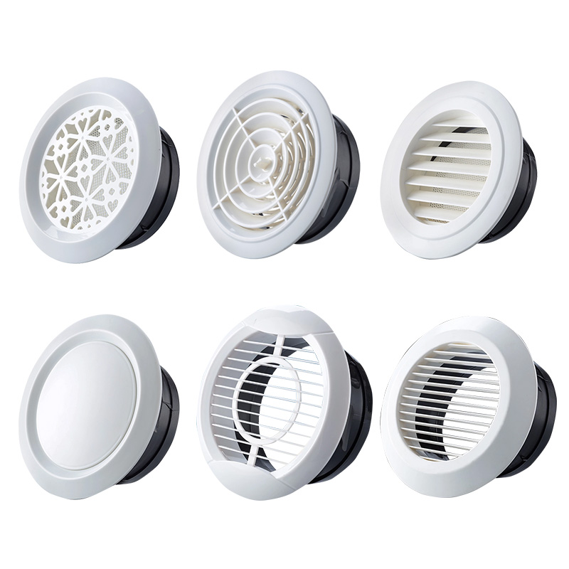Exhaust louver outdoor opening and closing ceiling ventilator exhaust outlet decoration cover vent sealing ring outlet