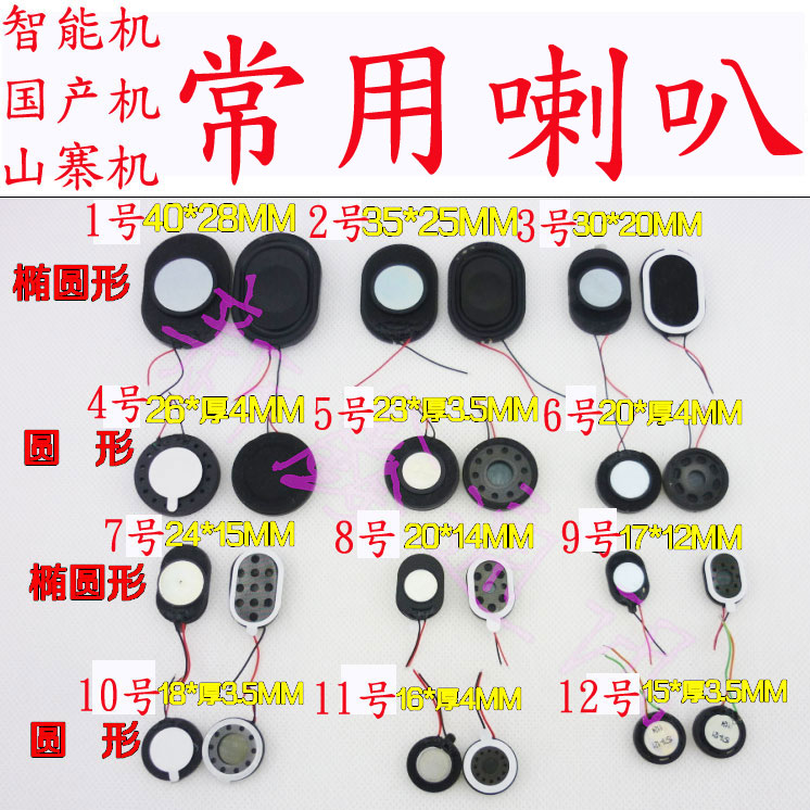 Domestic intelligent machine Shanzhai machine round oval with two line horn ring speaker ring