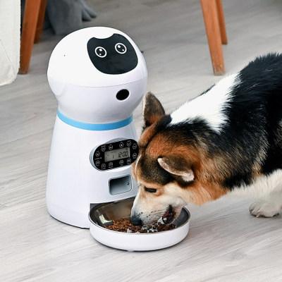 Intelligent voice feeder pet automatic feeding robot timing feeding machine cat dog dog staying robot
