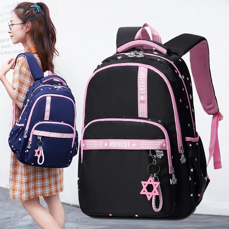 韩版小清新森系高中学生书包女生初中生双肩包大容量防水超轻背包