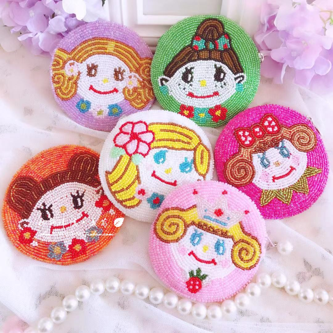 Rhododendron pearl embroidered Little Red Book Youth Japanese series ins lovely girl doll Hand Beaded student Coin Wallet