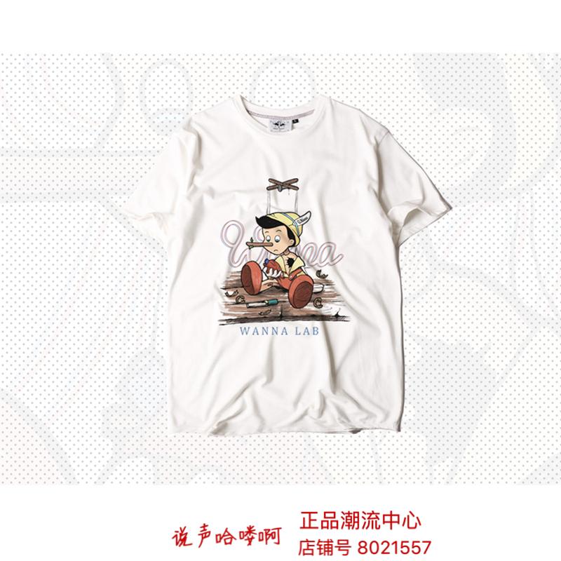 (官方授权)WANNA 18SS Pinocchio皮诺曹短袖TEE ins情侣宽松os
