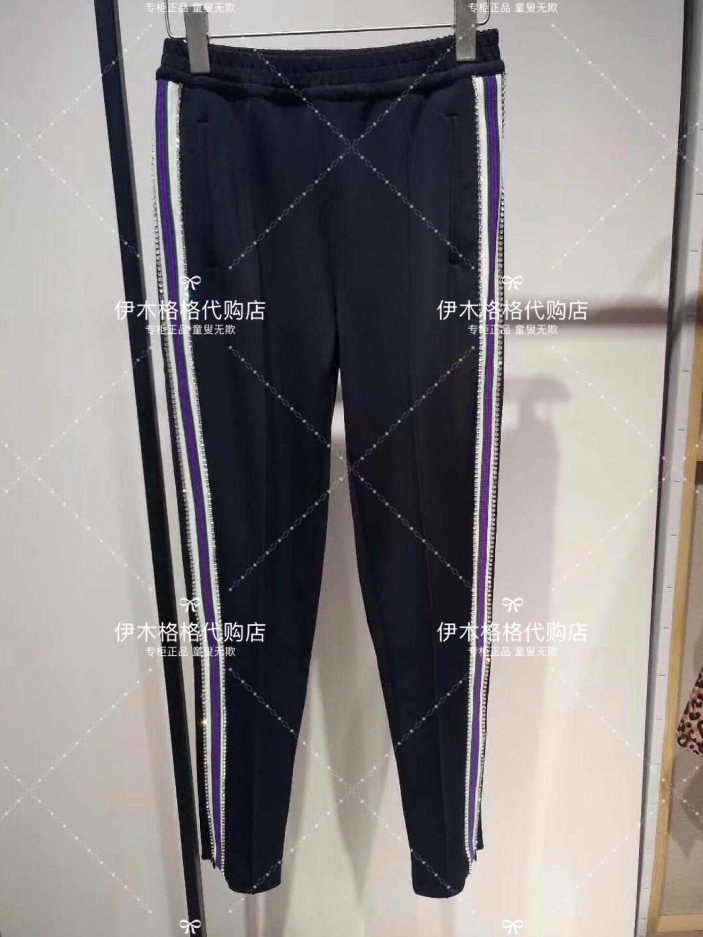 柜台现货 乌鸦 吊牌1799 水钻装饰花边显瘦小脚休闲裤U812K1205