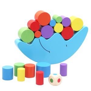启蒙儿童木质益智积木月亮平衡亲子游戏 幼儿园早教中心推荐玩具