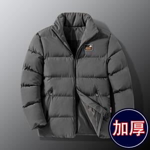 棉衣男士外套冬季2021新款羽绒棉服韩版帅气加厚棉袄潮流衣服男装