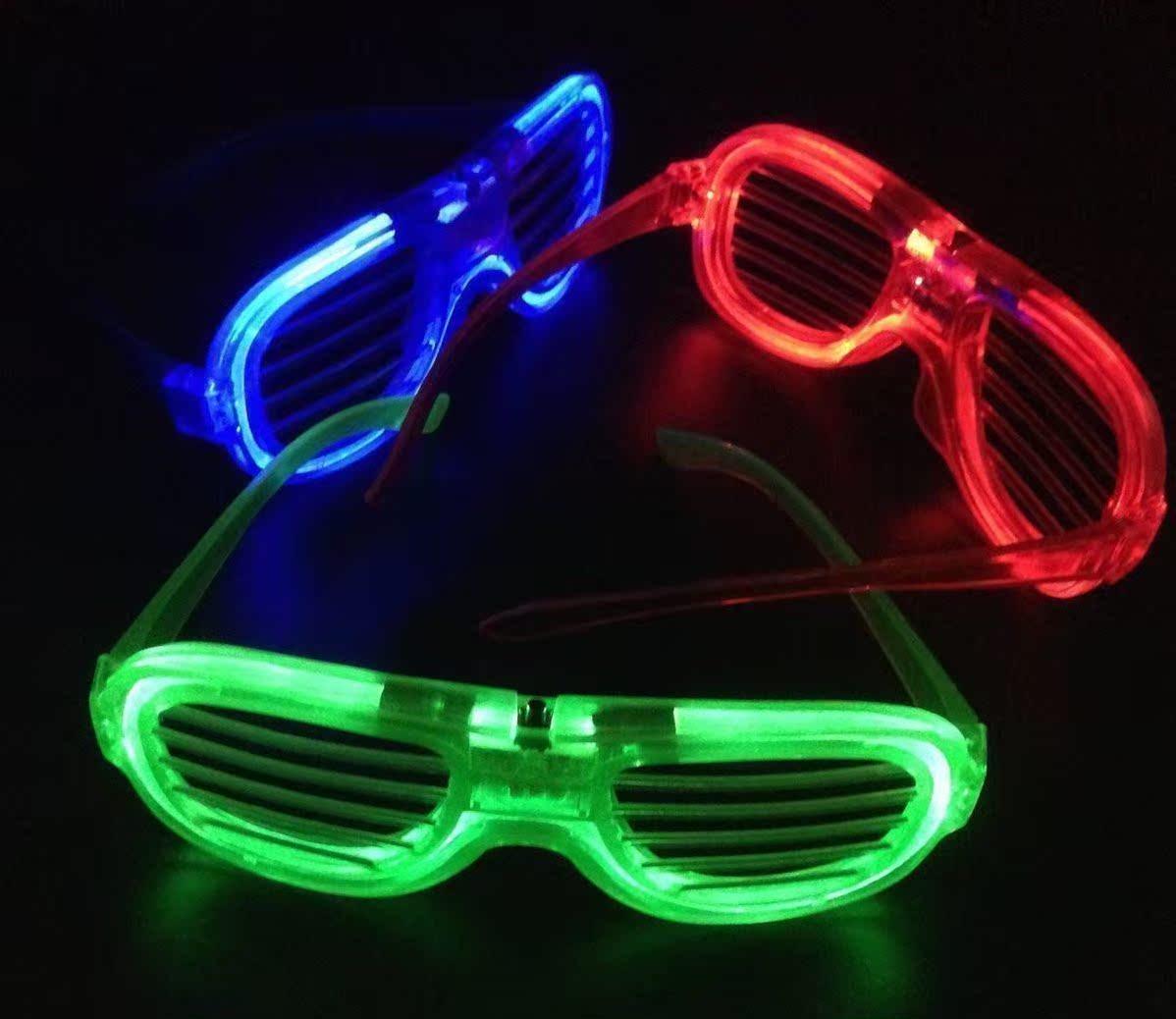 超酷酒吧演唱会年会玩具助威道具神器荧光六灯表演蹦迪眼镜男发光