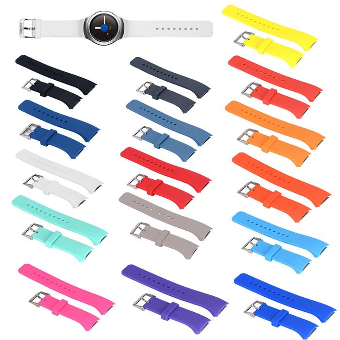 三星Gear S2 R720手表带运动表带 r730手表带硅胶表带腕带 纯色