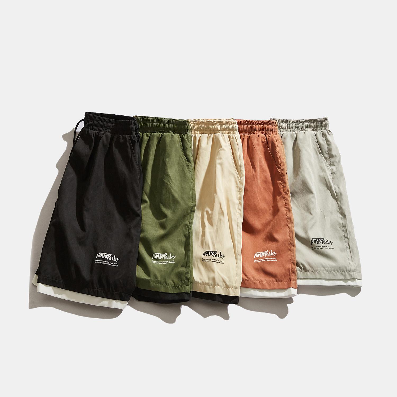 NEVERULES 2020夏装新款 五色假两件基础款跑量短裤-DK014-P40