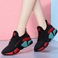 春季新款韩版时尚百搭女鞋跑步运动鞋网红轻便休闲鞋防滑软底单鞋