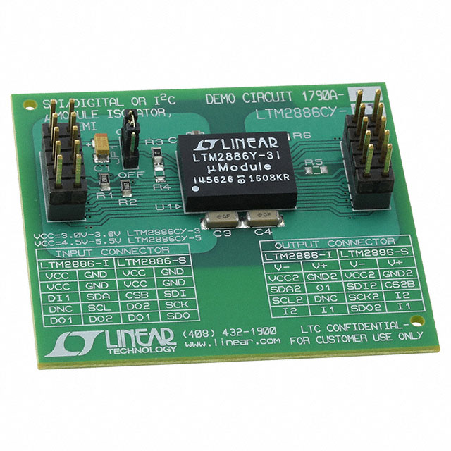 DC1790A-C【DEMO BOARD FOR LTM2886-3I】