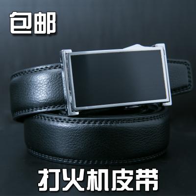 Leather leather mens belt lighter belt Smoking Lighter mens belt casual simple leather belt