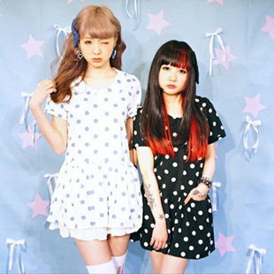 1640 CS AMO candy stripper Harajuku Polka Dot Dress
