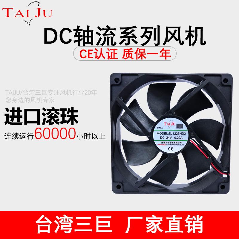 台湾三巨dc 12v 24v散热风扇 直流 变频器 电箱 工业机柜轴流风机