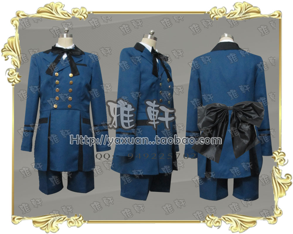 Yaxuan Cosplay clothing black deacon black housekeeper shire new dress