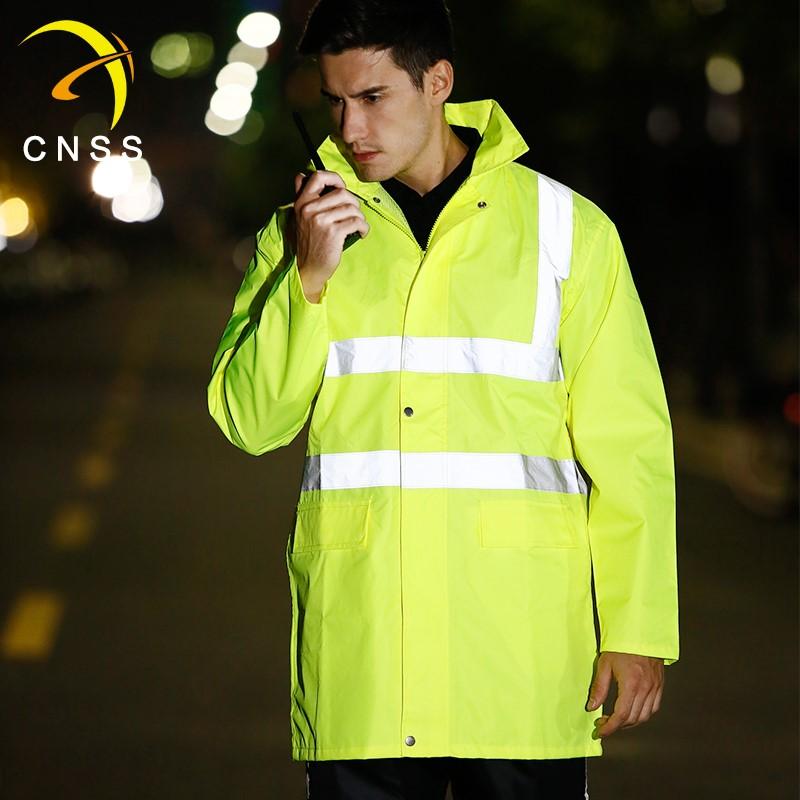 11月06日最新优惠cnss反光交通施工环卫分体男雨衣