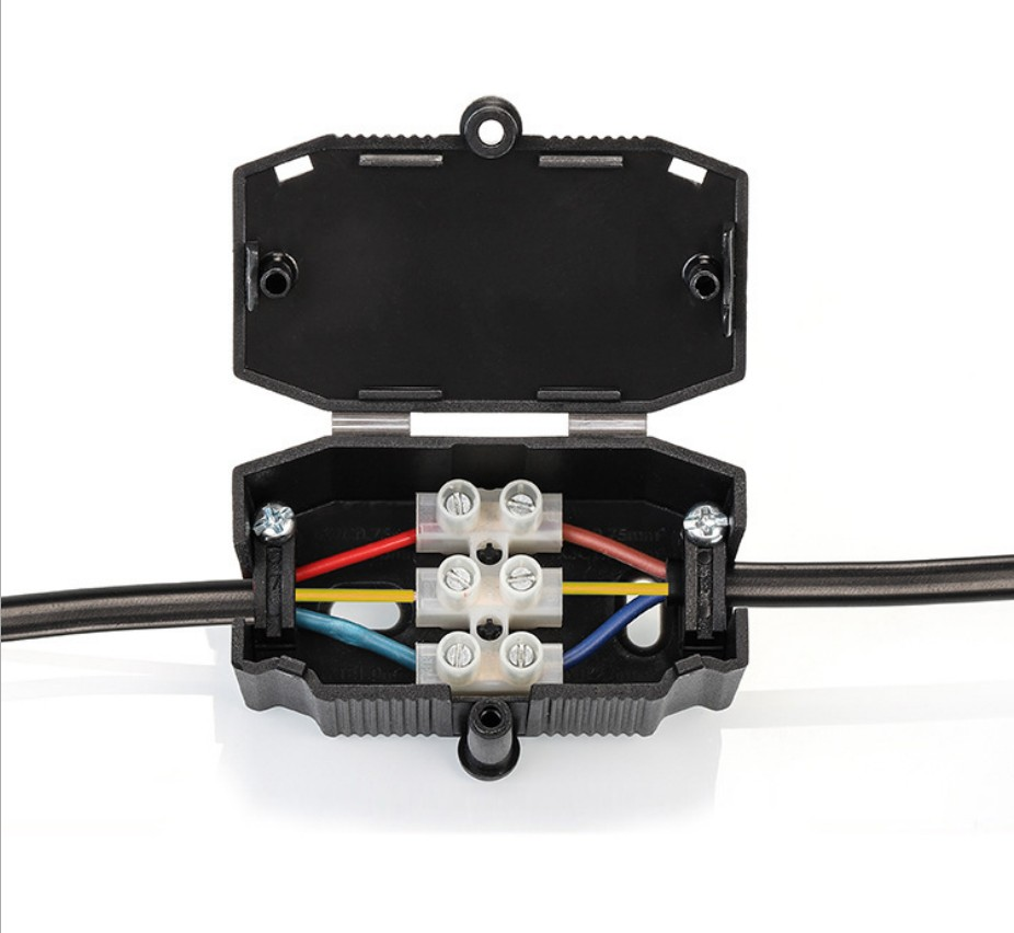 塑料接线盒带端子 923三位接线端子盒 410端子盒室内ROHS CE VDE