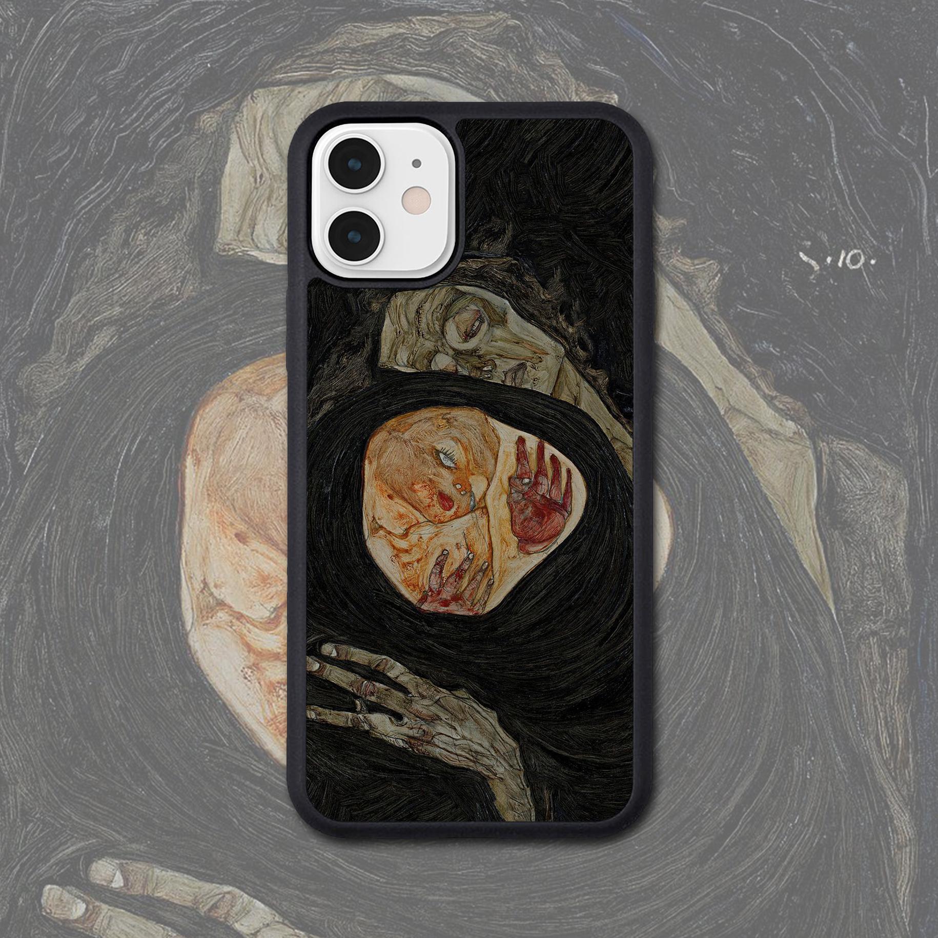 席勒复古油画适配iPhone 11PRO MAX/XR艺术生苹果8P/XS手机壳定制图片