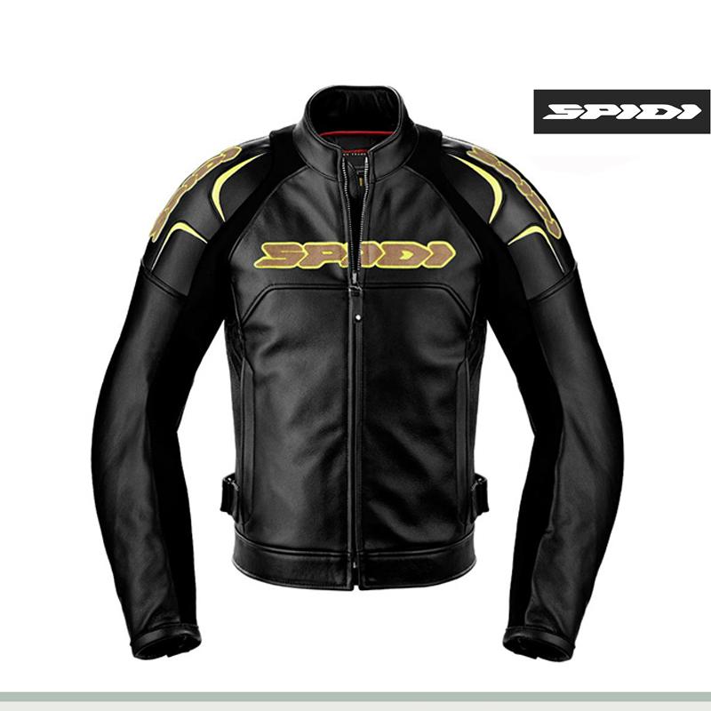 意大利SPIDI 摩托车机车复古时尚风格男士皮夹克骑行专用装备P135