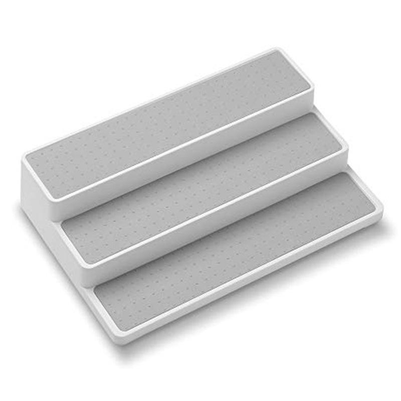 New three-layer ladder seasoning rack PP storage seasoning rack household products kitchen storage rack