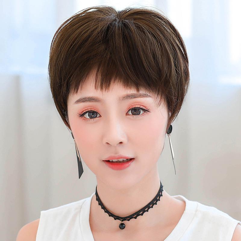 假发女短发帅气清爽透气自然少女气质修脸中短发不规则刘海短发套