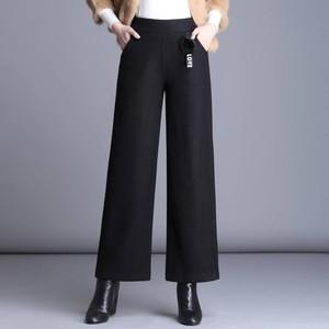 。大码160斤中年妇女裤子坠感宽松中老年人妈妈休闲裤直筒阔腿裤