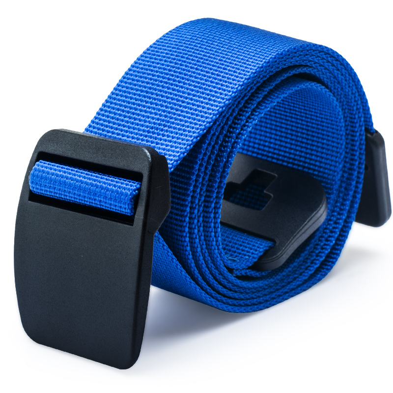 Mens and womens canvas belt, nylon outdoor quick drying thin trouser belt, youth military training buckle, anti metal allergy belt, thin and damp