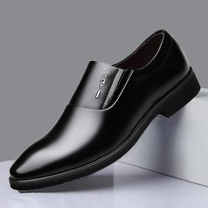 春秋男士皮鞋商务正装皮鞋男黑色休闲真皮英伦男皮鞋办公室上班鞋