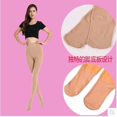Autumn and winter womens Nylon dragon claw wool pantyhose sole thinned anti pilling warm one-piece pants plus flannel pants