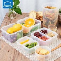 Le buckle le buckle preservation box plastic seal box rectangular refrigerator storage fruit box bento Box Microwave lunch Box