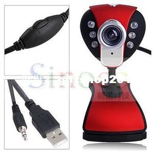Brand New 50MP 6 LED Web Camera Webcam USB 2.0 Support Skype