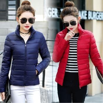 韩版棉衣女装短款百搭秋冬外套修身轻薄款棉服大码高领保暖小棉袄