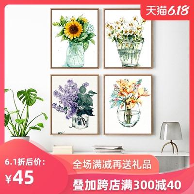 迷朗diy数字油画 客厅餐厅植物花卉简约数码填色手工绘油彩装饰画