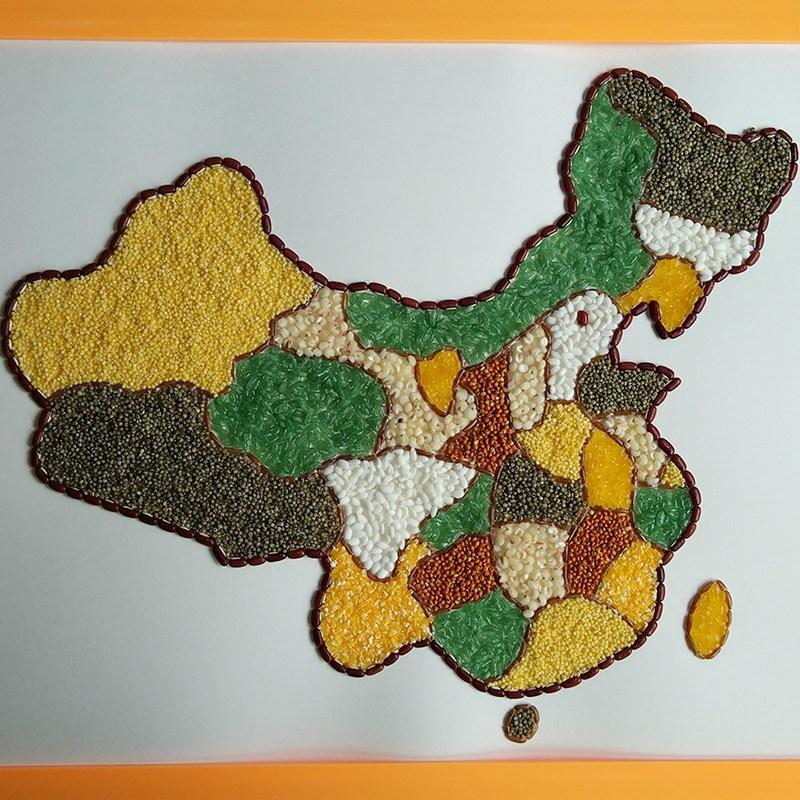 益智儿童手工diy制作豆子材料包
