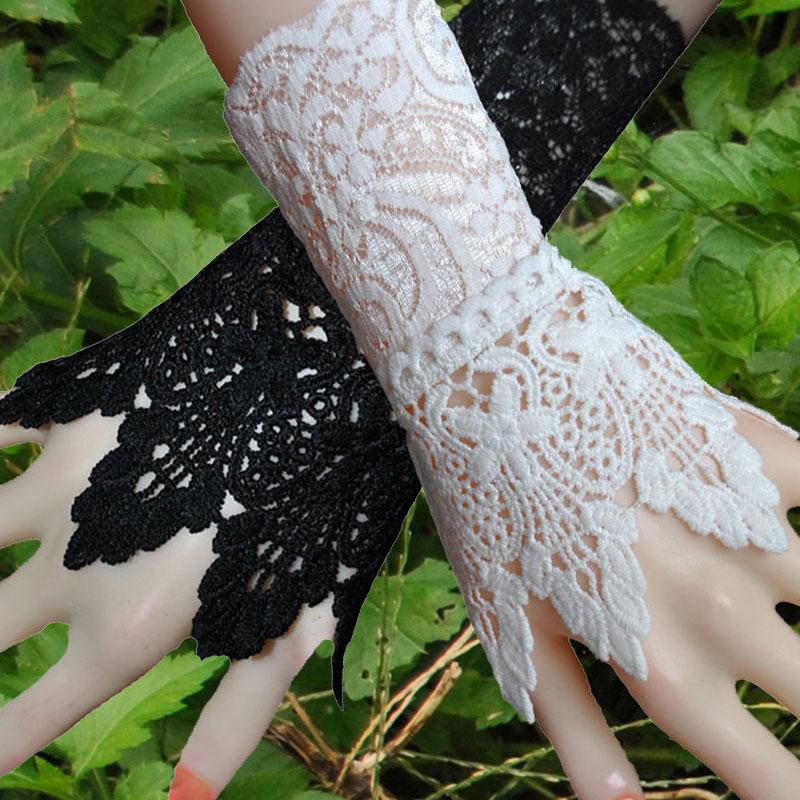 韩版蕾丝钩花镂空假袖套袖口装饰假袖子遮疤痕纹身百搭手腕套潮女