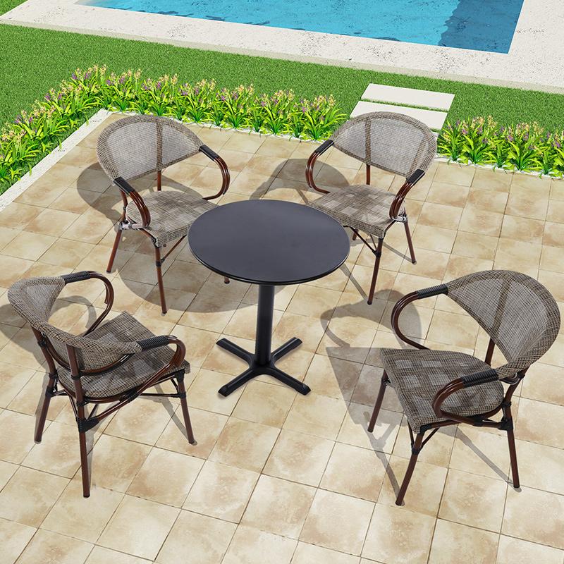 星巴克户外桌椅家具室外庭院藤椅子露台阳台咖啡桌椅三五件套组合