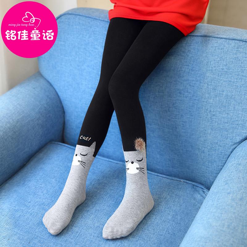 兒童小孩打底襪春秋女童公主白色踩腳襪褲長筒襪子 薄款連褲襪
