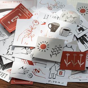 時光記 小清新貼紙包ins風手賬少女心手帳素材鹽系貼紙裝飾小圖案