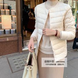 2020年冬季新款修身轻薄圆领羽绒服内胆女短款秋冬保暖无领外套女